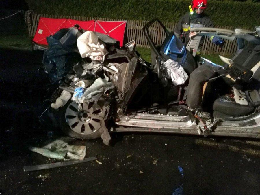 Do najpoważniejszego wypadku doszło w Bojanowie. W zderzeniu osobówki z samochodem ciężarowym zginęło dwie osoby, a trzy zostało ciężko ranne. Foto. archiwum KPP Stalowa Wola