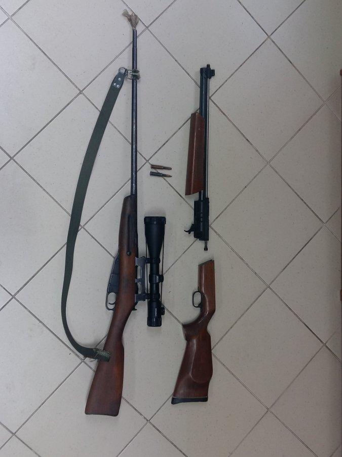 Zabezpieczona broń i amuunicja