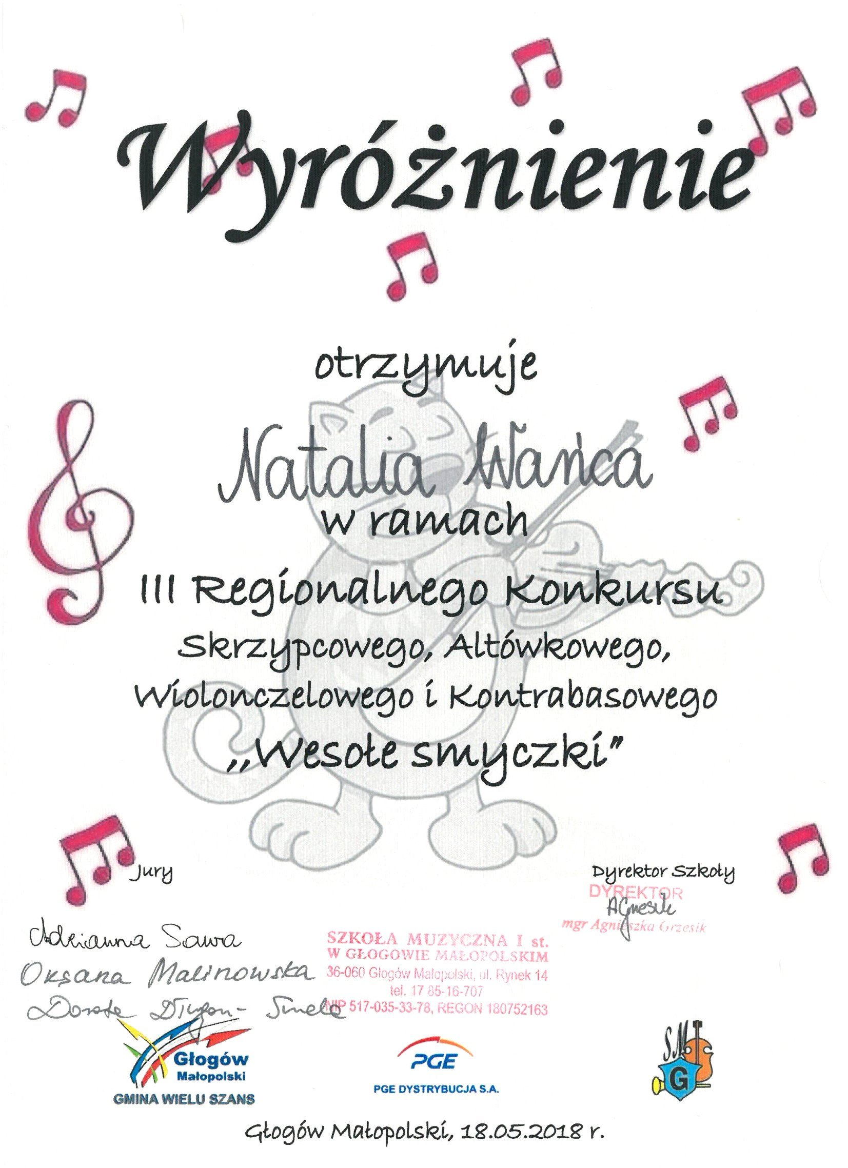Głogów Małopolski 2018 Natalia Wańca