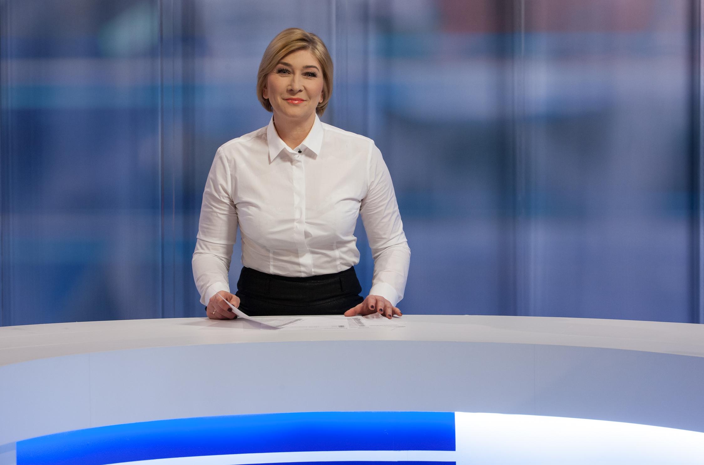 Ilona Małek szefowa Sekcji Programów Informacyjnych TVP3 Rzeszów i prezenterka