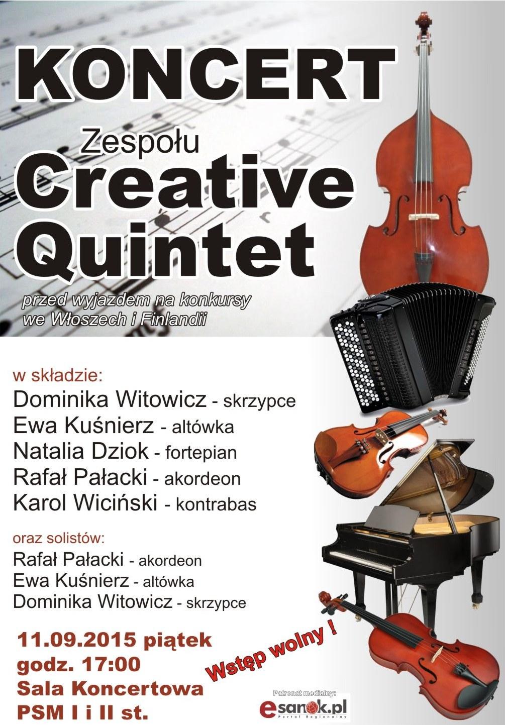 Koncert Creative Quintet 11-09-2015