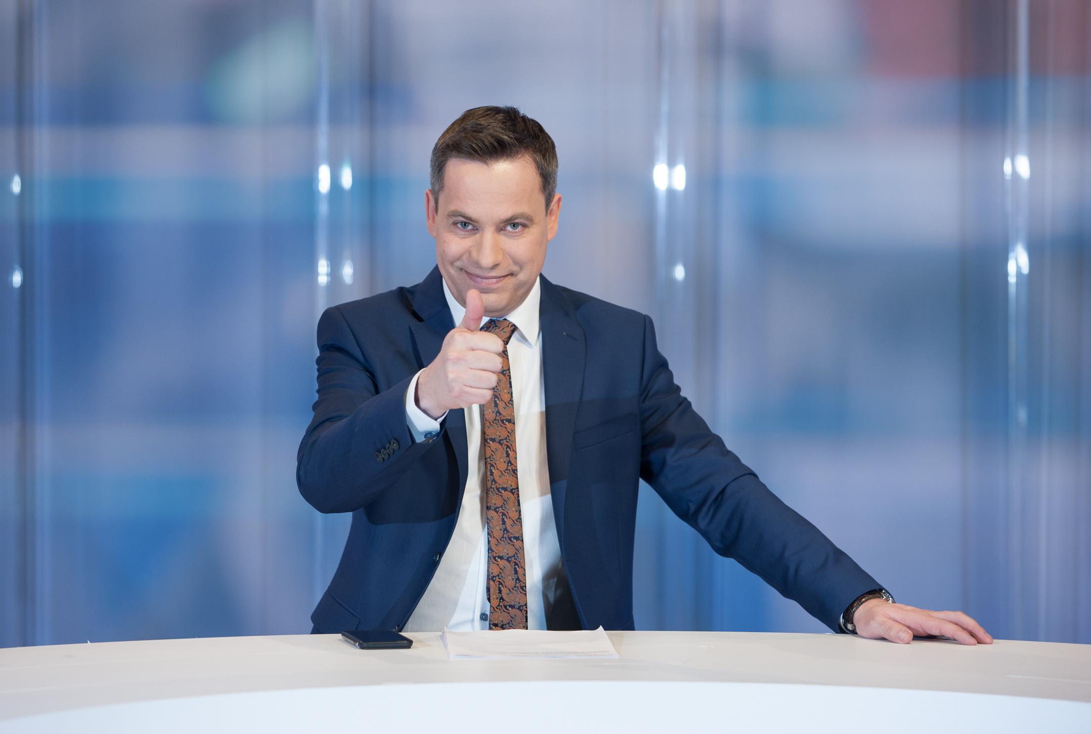 Marcin Pawlak wydawca i prezenter programów informacyjnych