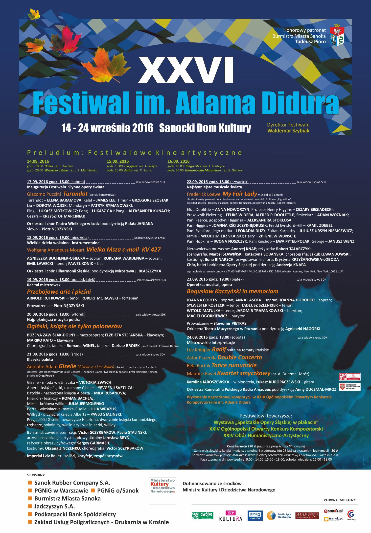 PLAKAT 26 Festiwal im. Adama Didura