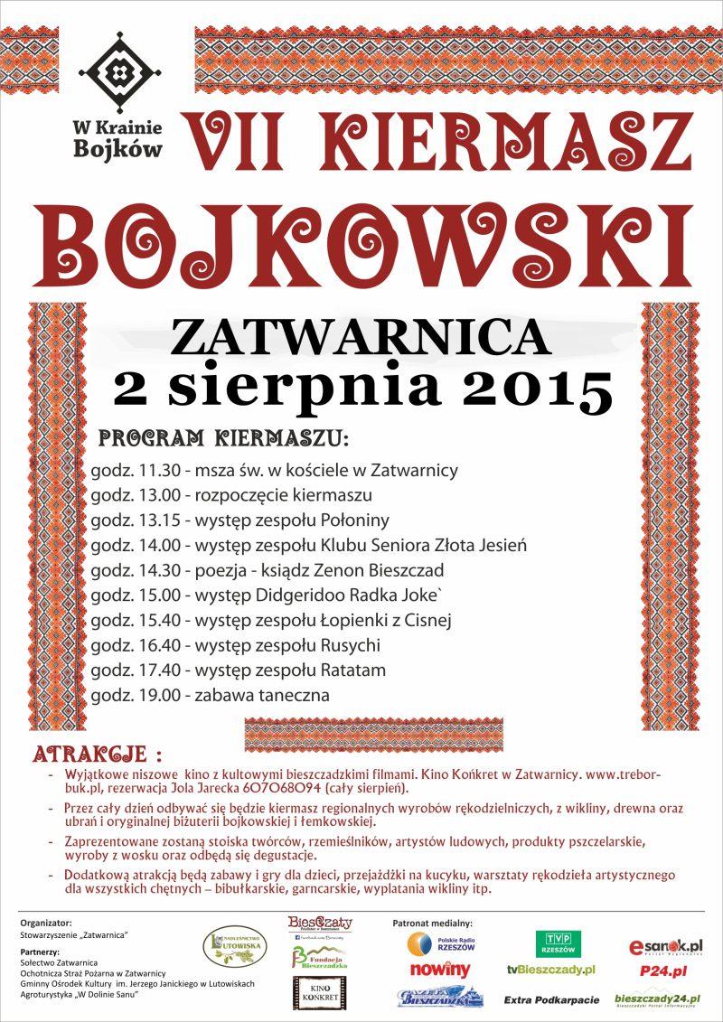 Plakat Kiermasz Bojkowski 2015
