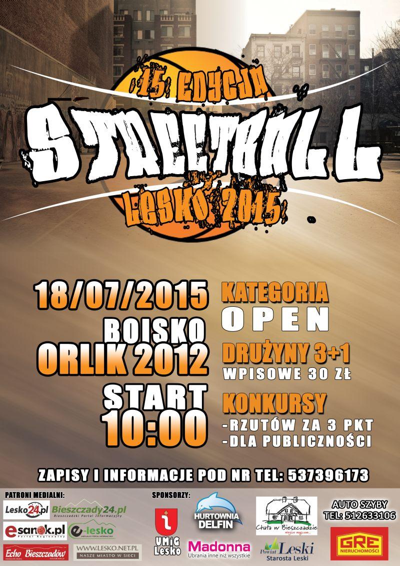 Plakat Streetball Lesko 2015
