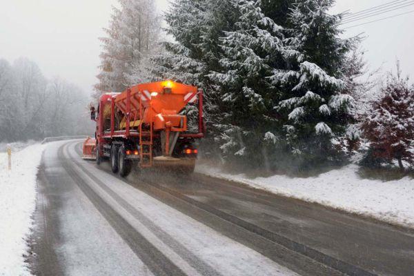 Snieg w Bieszczadach