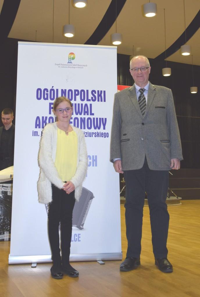 Wiktoria Kocyłowska i Andrzej Smolik