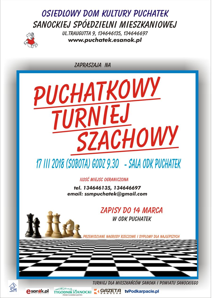 afisz Turniej szach 2018