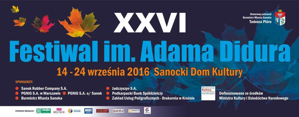 baner 26 Festiwal im.Adama Didura