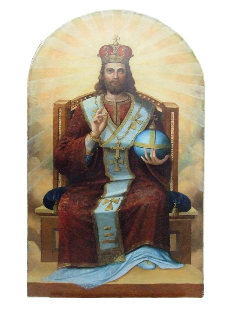 Odnowiona przed kilku laty w pracowni warszawskiej ASP ikona Jezusa Chrystusa Pantokratora jest główną ozdobą ikonostasu.