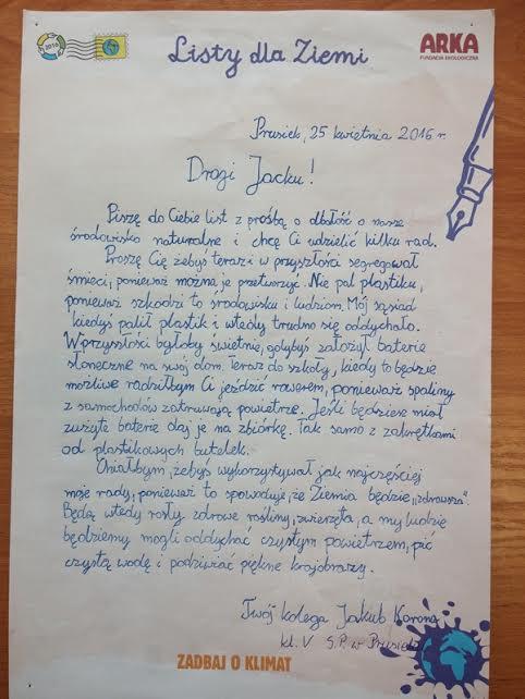list do ziemi