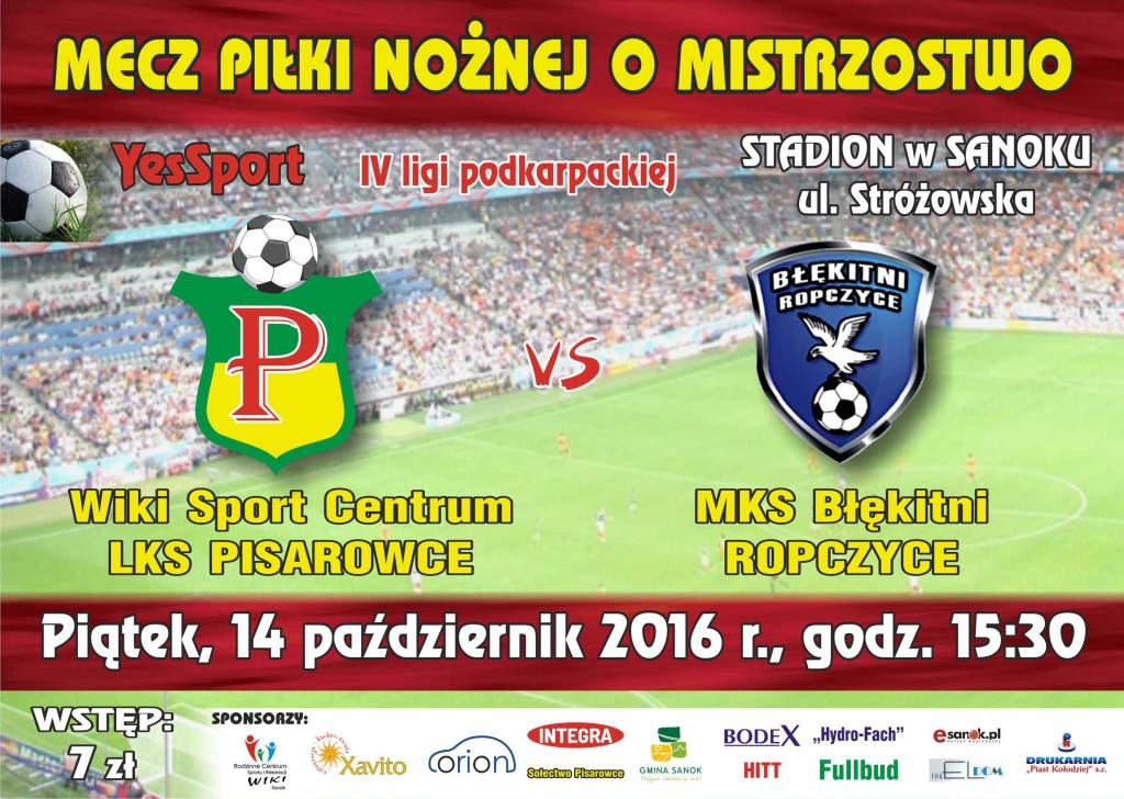 pisarowce LKS plakat i bilet 2017_ropczyce0