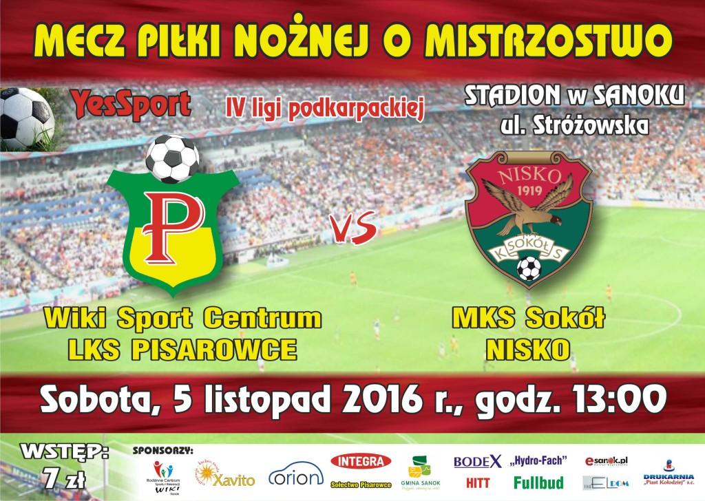 pisarowce LKS plakat i bilet 2017_sokol nisko