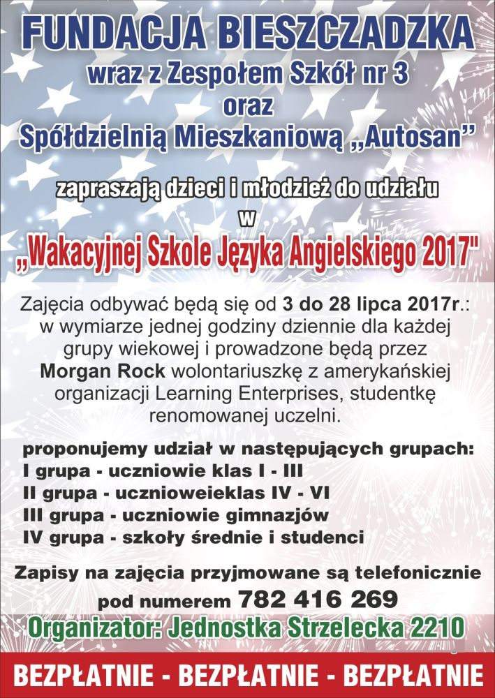 Bezpłatny Kurs Języka Angielskiego Dla Mieszkańców Sanoka