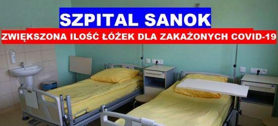 """SZPITAL SANOK: Jest decyzja o zwiększeniu ilości """"łóżek covidowych"""""""