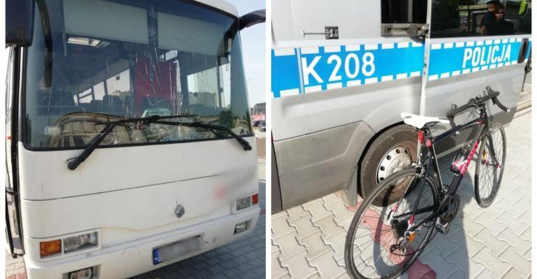 Śmiertelne potrącenie. Autobus zderzył się z rowerzystą w Krośnie (FOTO)