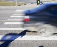 Potrącenie pieszego na przejściu