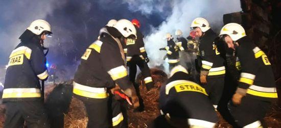 BESKO: Pożar pustostanu. 6 zastępów strażaków w akcji! (ZDJĘCIA)