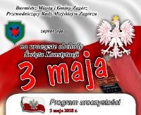 GMINA ZAGÓRZ: Uroczystości uchwalenia Konstytucji 3-go Maja (PROGRAM)