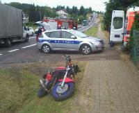 WEEKEND NA DRODZE: Wywrotki motocyklowe, nieuwaga i pośpiech (FILM, ZDJĘCIA)
