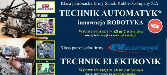 Nabór do klas patronackich w Mechaniku (ZS 2). TECHNIK AUTOMATYK i TECHNIK ELEKTRONIK