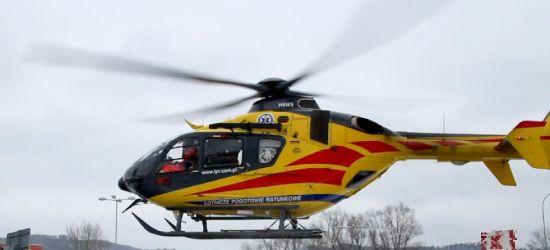 Wypadek podczas pracy. Poparzonego mężczyznę śmigłowcem przetransportowano do Krakowa