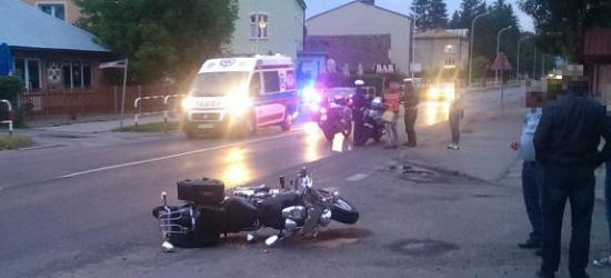 Wypadek na ul. Lipińskiego. Motocyklista przewieziony do szpitala (ZDJĘCIA)