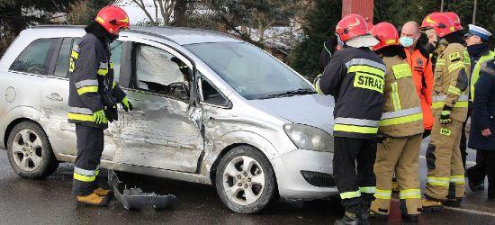 SANOK: Zderzenie trzech pojazdów na Dąbrówce! (VIDEO, FOTO)