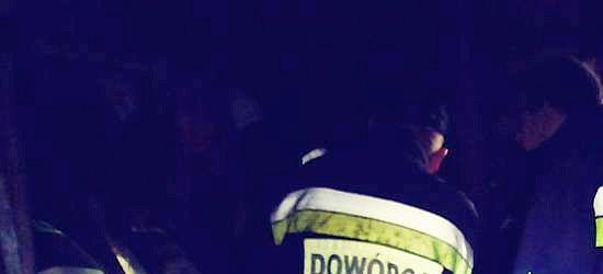 Na parkingu Stomilu na Olchowcach spłonął samochód (VIDEO)