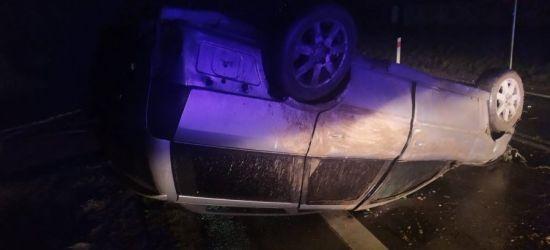 Dachowanie w Grabownicy. 22-letni kierowca z powiatu sanockiego pijany (FOTO)