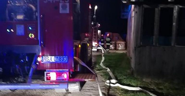 Pożar w kotłowni przy zakładzie przeróbki drewna (FOTO)