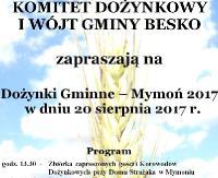 GMINA BESKO: Dożynki Gminne – Mymoń 2017 (PROGRAM)