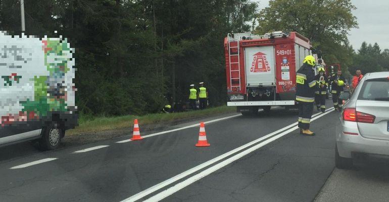 AKTUALIZACJA: Samochód uderzył w drzewo. Kierowca zmarł (ZDJĘCIA)