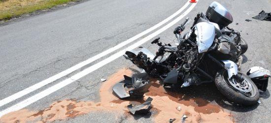 Wypadek z udziałem motocyklisty (FOTO)