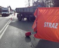 Tragiczny poranek w Krośnie. 18-latka zginęła pod kołami ciężarówki. Śmiertelne potrącenie staruszka (ZDJĘCIA)