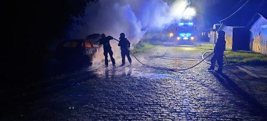 ZAGÓRZ: Nocny pożar osobówki (FOTO)