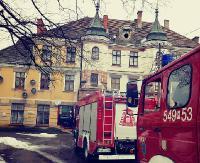 ZAGÓRZ: Pożar w budynku dworca PKP (ZDJĘCIA)