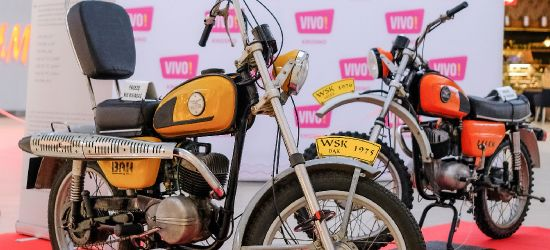 Kultowe motocykle WSK zawitały do VIVO! Krosno (ZDJĘCIA)