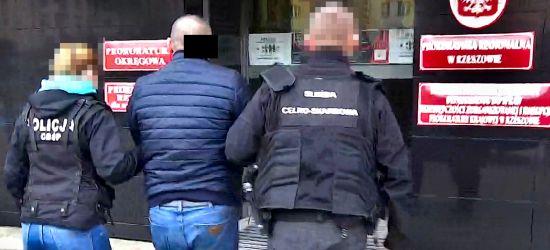 """Zarzut """"zbrodni VAT-owskiej"""" dla szefa grupy przestępczej wyłudzającej podatki (VIDEO)"""