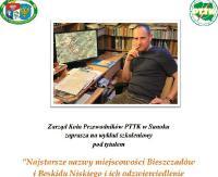 PTTK: Rajd zimowy z okazji Dnia Przewodnika i wykład o najstarszych nazwach bieszczadzkich wiosek