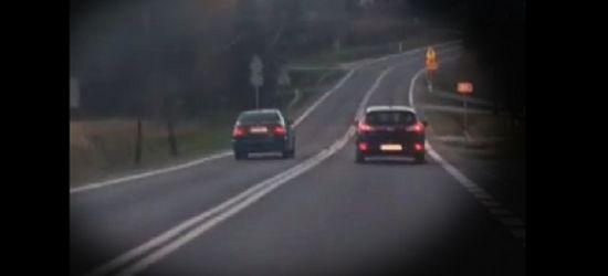 ZAGÓRZ: Jechał zygzakiem i wyprzedzał na podwójnej ciągłej! (VIDEO)