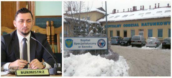 Burmistrz o sytuacji w sanockim szpitalu (OŚWIADCZENIE)