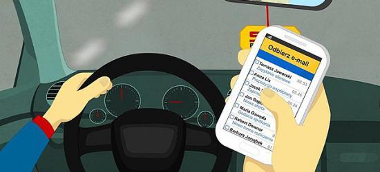 """65% kierowców pisze SMSy w trakcie jazdy. Rusza akcja ,,Nie (przy)dzwoń za kierownicą"""" (FILM, ZDJĘCIA)"""