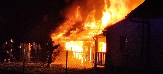 ZAGÓRZ: Potężny pożar! Tuż obok zamieszkały dom. Akcja strażaków (VIDEO, ZDJĘCIA)