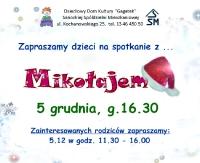 """NASZ PATRONAT: Mikołaj odwiedzi dzieci w """"Gagatku"""""""