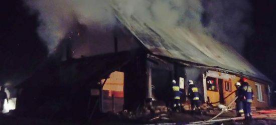 ZAŁUŻ: Wielki pożar! Drewniany dom spłonął doszczętnie (FOTO, VIDEO)