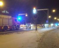 SANOK: Potrącenie pieszego na skrzyżowaniu ul. Dmowskiego z Jana Pawła II (ZDJĘCIA)
