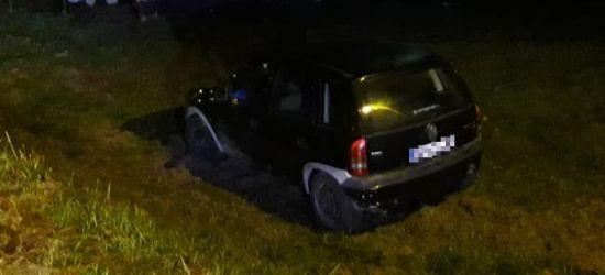 POWIAT LESKI: Wypadł z drogi. Kierowca w szpitalu (ZDJĘCIA)