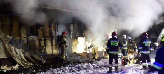 Pożar domu w Grabownicy! Strażacy walczyli z ogniem w 10-stopniowym mrozie (VIDEO, ZDJĘCIA)