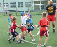 Szybkie nogi i waleczne serca. Najmłodsi zagrali w rugby (ZDJĘCIA)